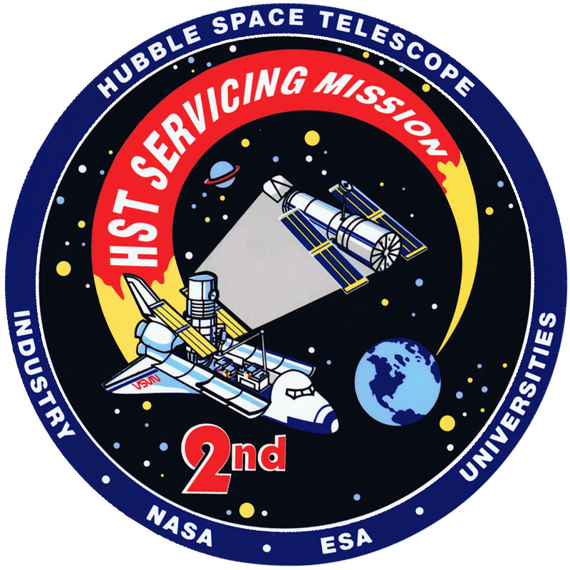 Mission Patches On Mission 4 To The International Space: Servicing Missions