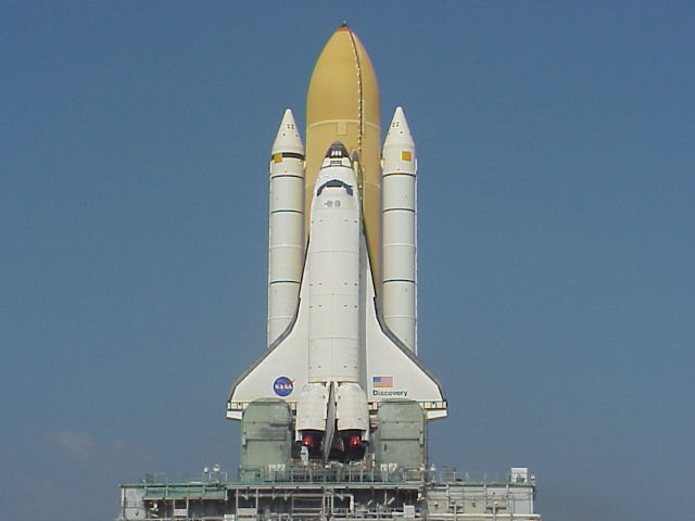 Space Shuttle Discovery on the Launch Pad