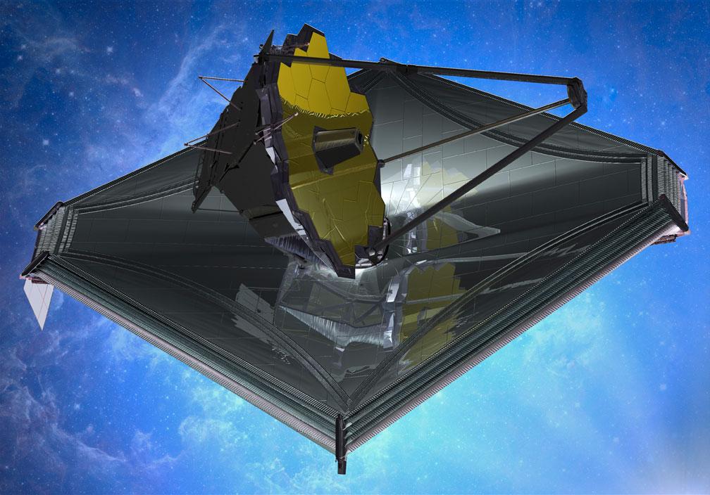 James Webb Space Telescope artist impression, Credit: Northrop Grumman