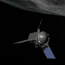 Artist impression of the OSIRIS-REx spacecraft. Credit: NASA Goddard Space Flight Centre