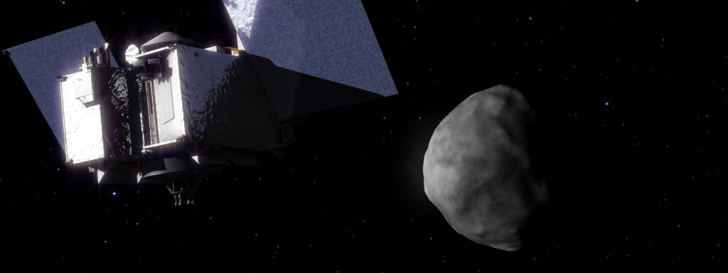 Artist impression of OSIRIS-REx arriving at Bennu