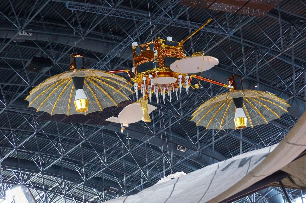 A TDRSS satellite model in the Udvar-Hazy Center