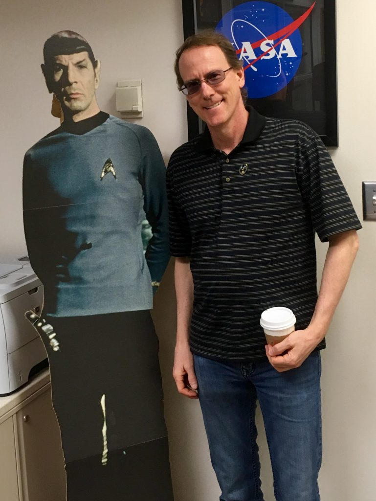Dr. Tod Strohmayer poses with an unearthly friend