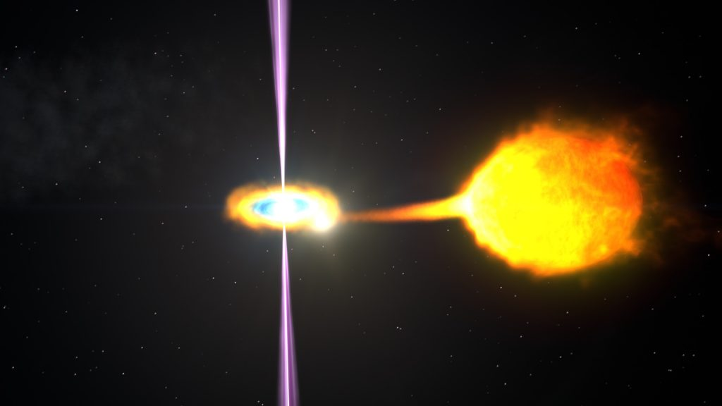 A pulsar in a binary system